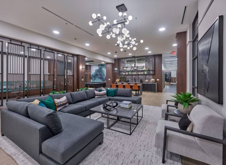 Indoor Amenities Debut at the Atwater on Bogota's Hackensack River Waterfront