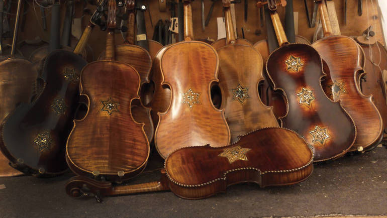 Restored violins from Violins of Hope - New Jersey
