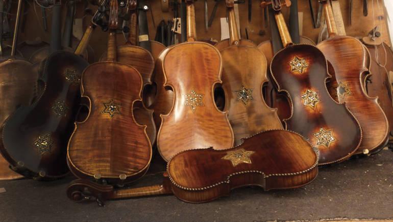 Restored violins from Violins of Hope - New Jersey