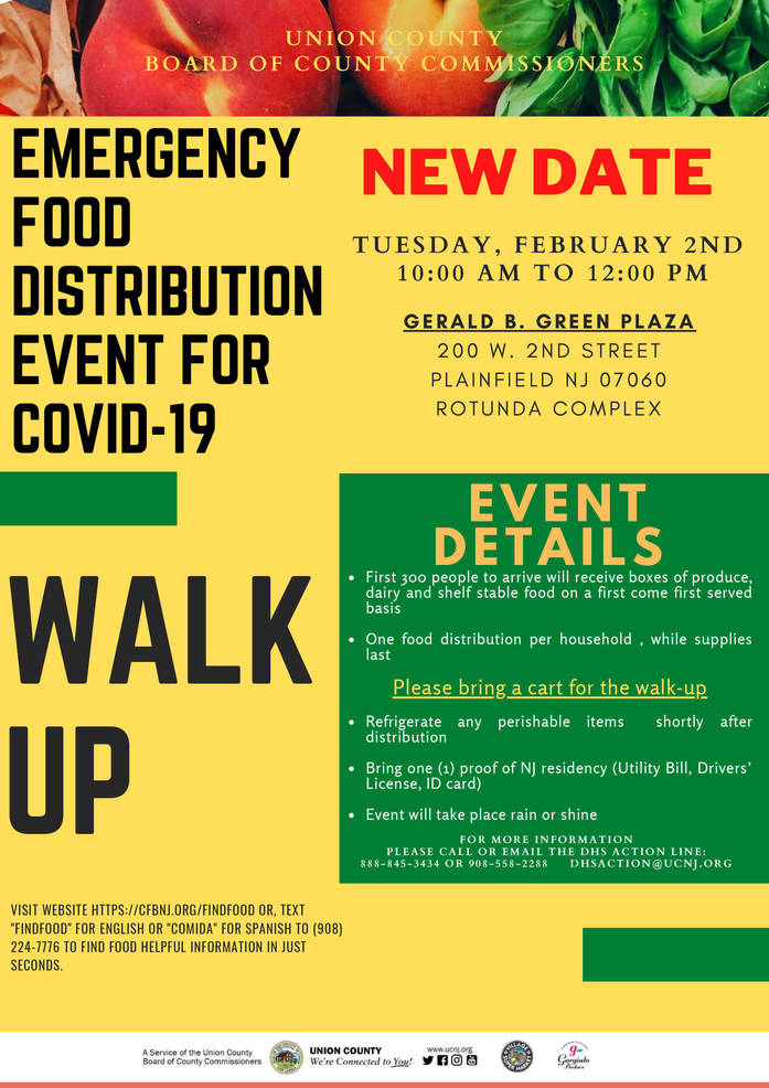 Rescheduled Emergency Food Distribution on Feb. 2 in Plainfield