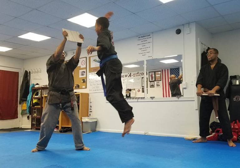 Student taking Belt Promotion Test.jpg