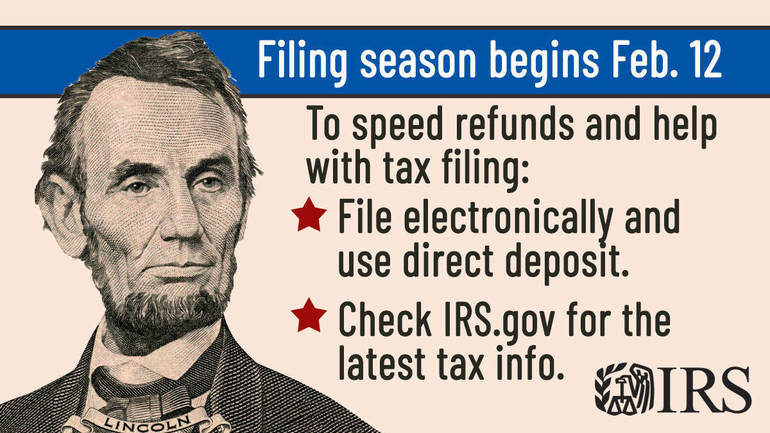 2021 Tax Filing Season Begins Feb. 12; IRS Outlines Steps to Speed Refunds During Pandemic