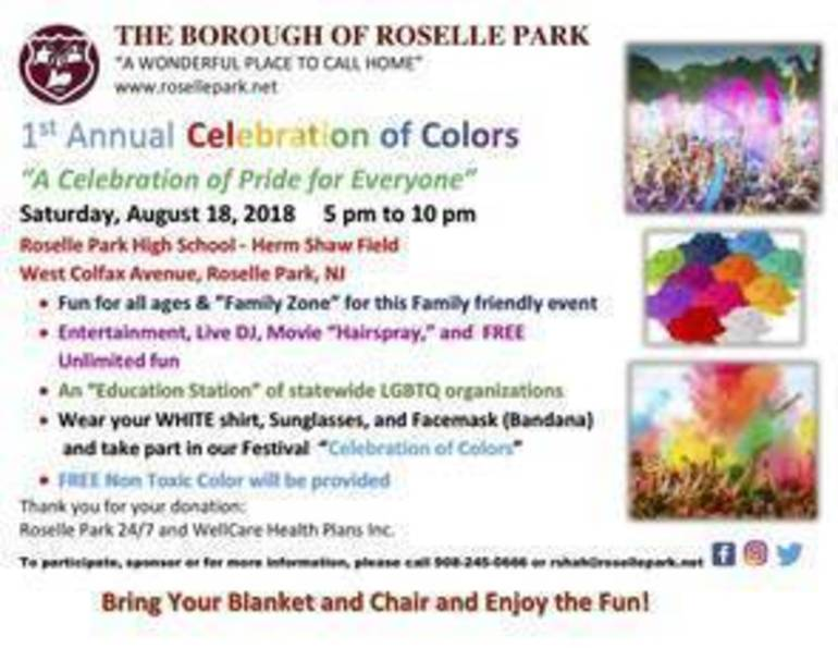 Roselle Park to Host First Annual Celebration of Colors and Pride Month