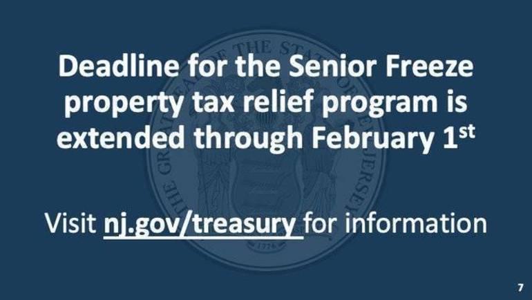 Property Tax Freeze Deadline for NJ Senior Citizens Extended to Feb 1, 2021
