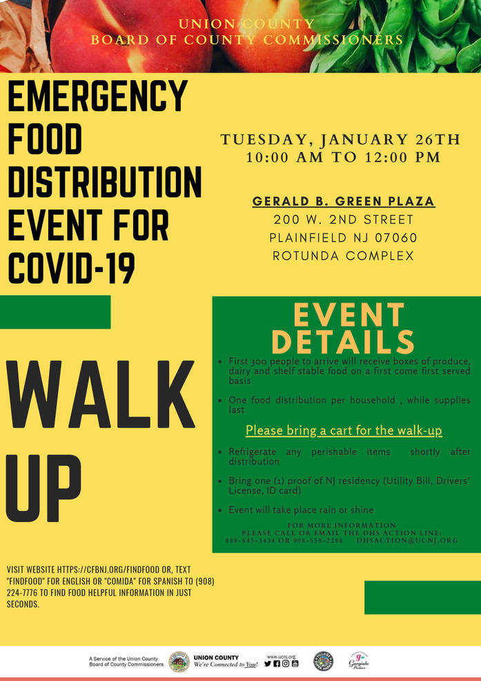 Updated: Union County Commissioners Announce Three COVID-19 Emergency Food Distributions in January