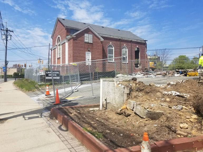Construction at Northfield Center in Livingston Begins with Demolition of Baptist Church