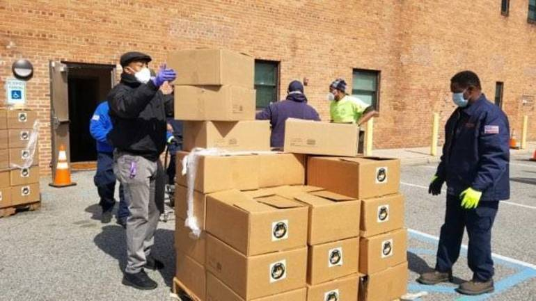 14 Tons of Emergency Food Packages for East Orange Residents Donated by Community Food Bank of NJ and Interfaith Food Pantry of the Oranges