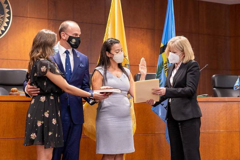Claribel Cortes is sworn in as new Middlesex County Surrogate