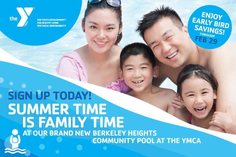 Berkeley Heights Community Pool at the YMCA Early Bird Savings