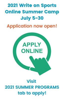 Write on Sports Online Camp Application portal is open