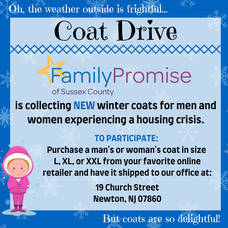 Family Promise of Sussex County Coat Drive