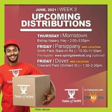 Table of Hope's Free Food Distribution is June 17 in Morristown