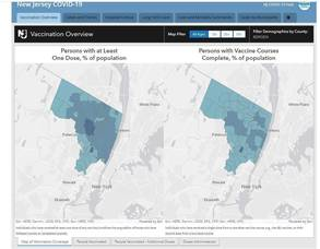 COVID-19 cases, Bergen County
