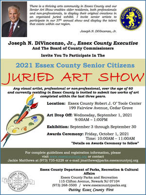 Works Being Sought for 2021 Essex County Senior Citizens Juried Art Show