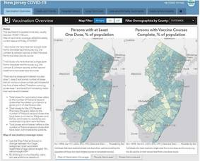 Carousel image aa2f4c11042433d50e7c a551c640140bee5b0340 2021 nj state of nj vaccine map for monday may 17 2021