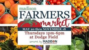 Madison Farmer's Market is Thursday September 9
