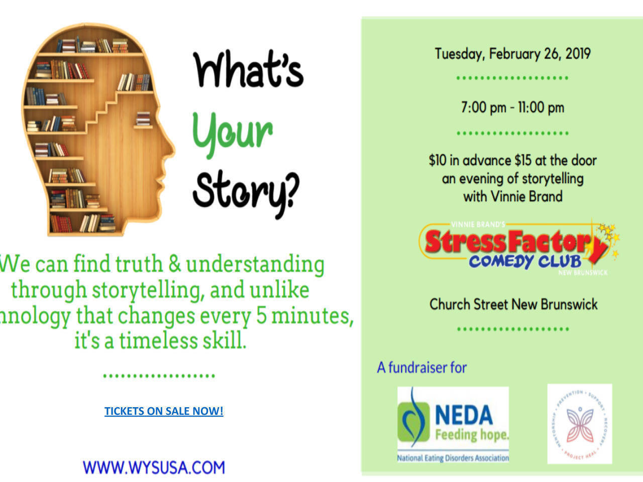 What's Your Story? on 2/26 at Stress Factory