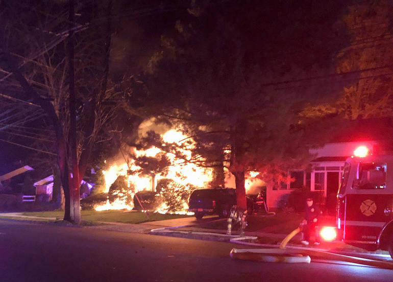 Crews Contain Overnight Fire That Tore Through Fanwood Home