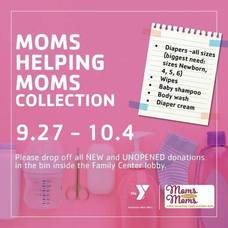 Moms Helping Moms Diaper Drive at Madison Area YMCA;  Sept. 27 - Oct. 4