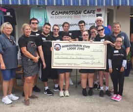 Manahawkin Elks Makes Wonderful Donation to Compassion Cafe