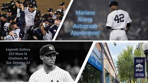 Did you get your tickets yet? Mariano Rivera Will be Appearing at Legends Gallery in Chatham