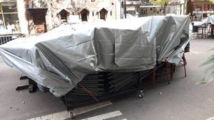Tents , Canopies Removed From City Center New Brunswick in Mayor Cahill's Latest Outdoor Dining Order