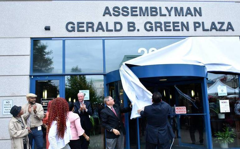 Freeholders, Municipal, State and Local Officials Dedicate County Building to Late Assemblyman Green