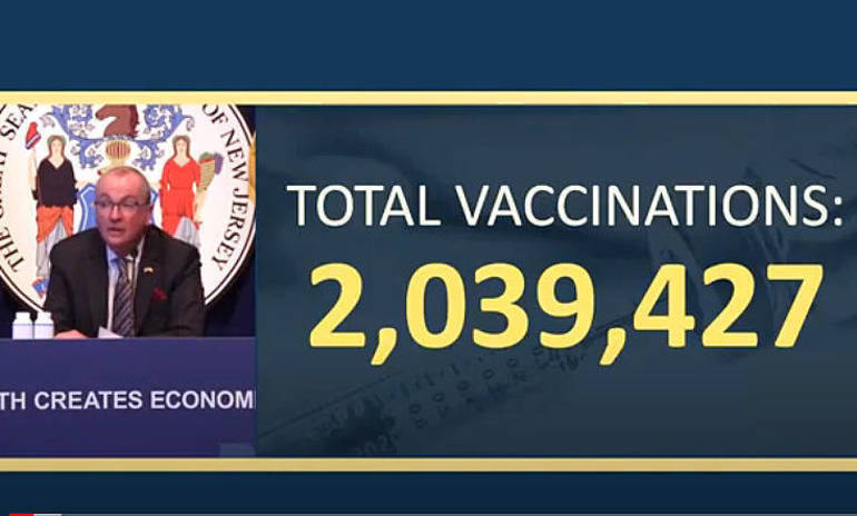 New Jersey Has Now Administered More Than 2 Million COVID Vaccine Doses