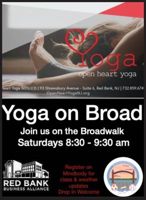 Saturday in Downtown Red Bank  Saturday - Yoga on Broad