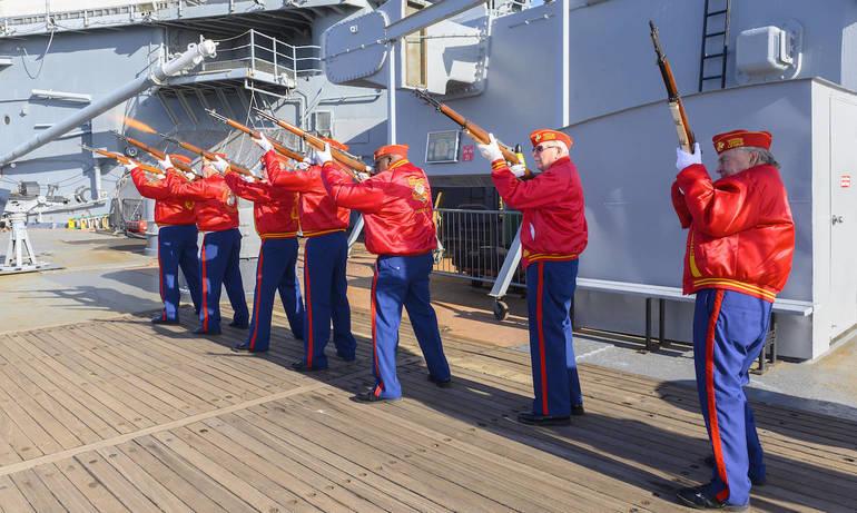 Battleship New Jersey Pearl Harbor Ceremony