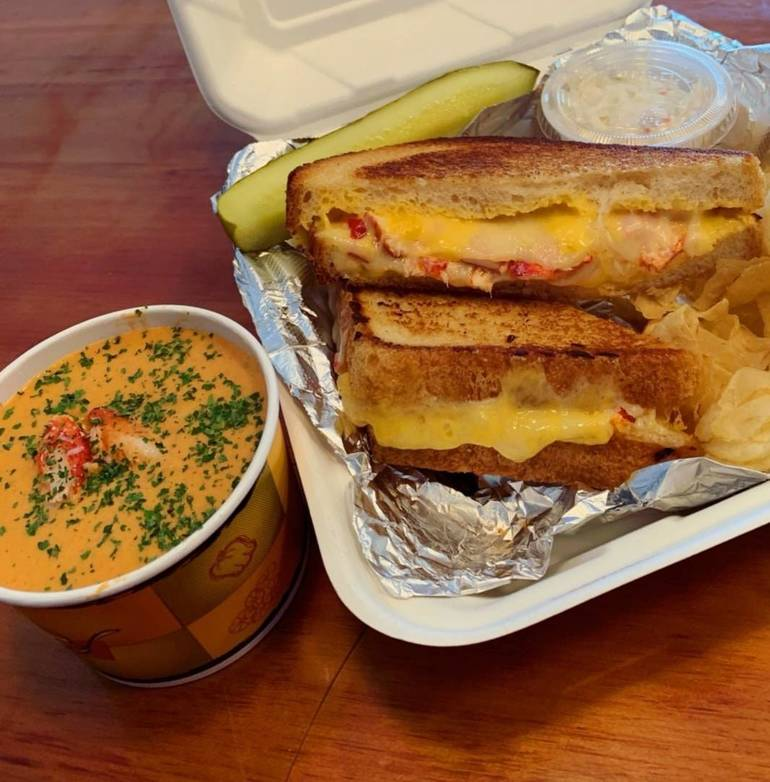 "BoonDocks 2-Go – Best Fresh Fish Take Out and Outdoor Dining. Can you say, ""Lobster Grilled Cheese Please""?"