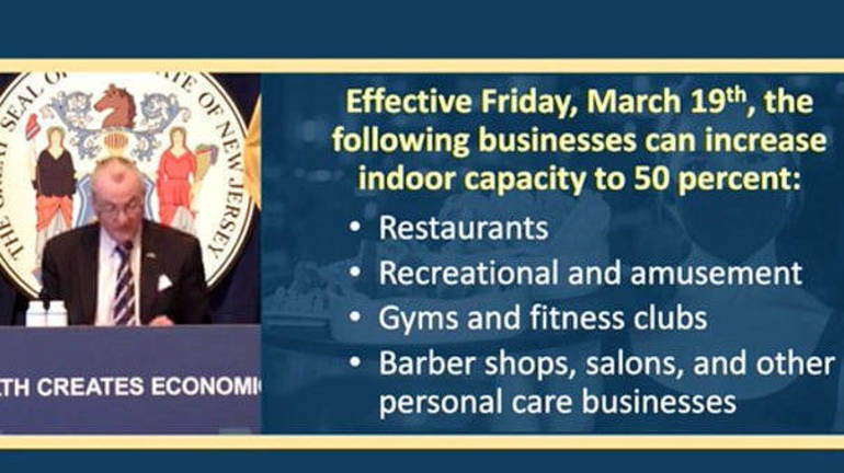 New Jersey to Raise Capacity at Restaurants and Other Indoor Business Capacity from 35% to 50%