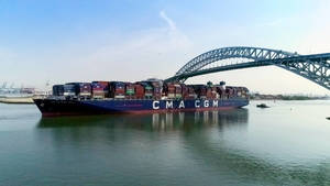 Largest Container Ship to Reach the East Coast Docks in Elizabeth