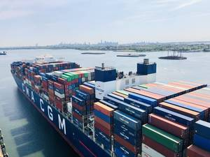 Largest Container Ship to Ever Reach the East Coast Docks in NJ
