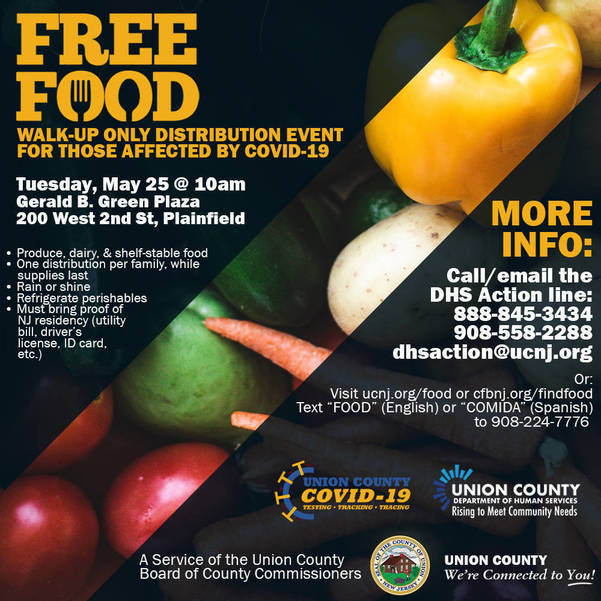 Union County Commissioners Announce COVID-19 Emergency Food Distributions Through May
