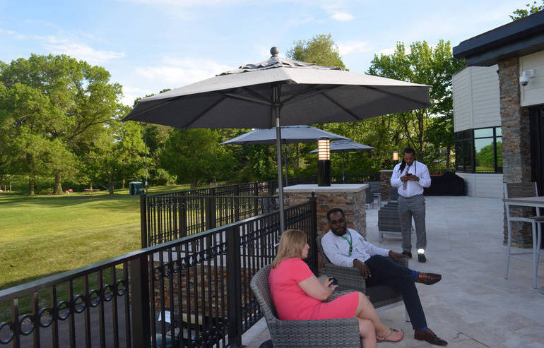 Ashbrook Clubhouse's new outdoor patio in Scotch Plains
