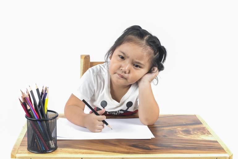 Kids School Grumpy