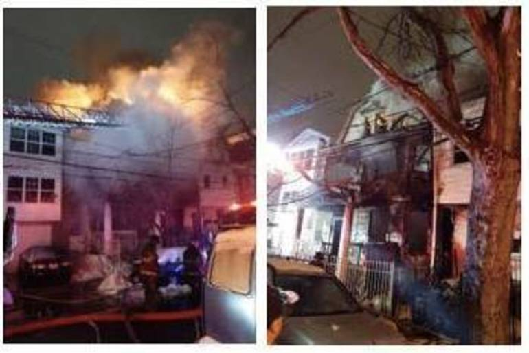Newark Officers Carry Woman to Safety During House Fire