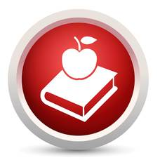 Education Apple and Book