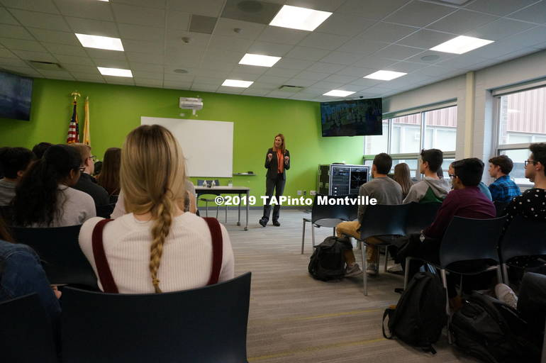a Congresswoman Mikie Sherrill speaks to students at MTHS ©2019 TAPinto Montville  1.JPG