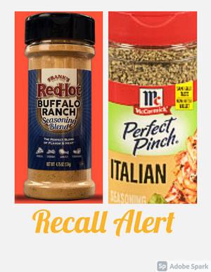 McCormick Italian Seasoning and Frank's RedHot Buffalo Ranch Seasoning Recalled Due to Salmonella Risk