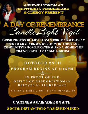 Assemblywoman Britnee Timberlake to Honor Those Lost to COVID-19