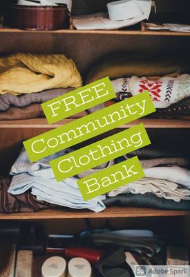 Free Community Clothing Bank at Morristown Church; Sat. Oct 16