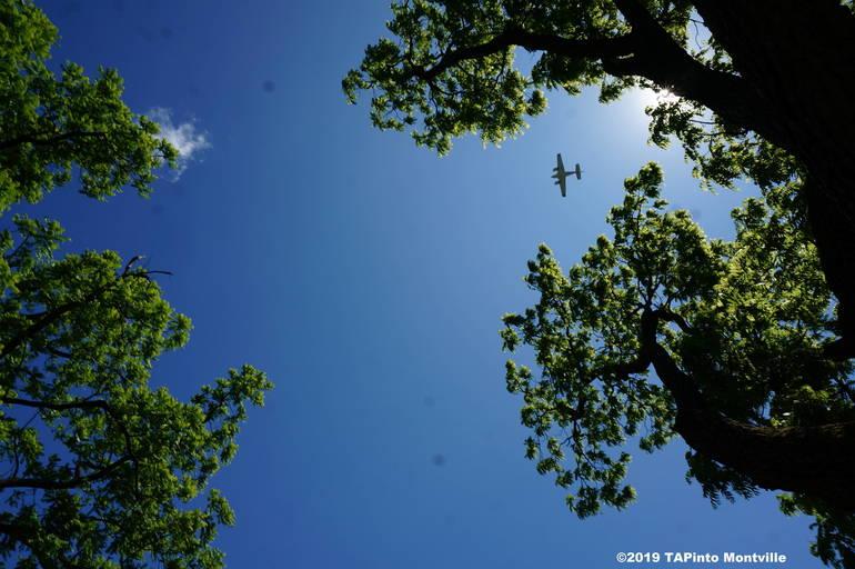 a Flyover by a Beechcraft Baron aircraft ©2019 TAPInto Montville.JPG