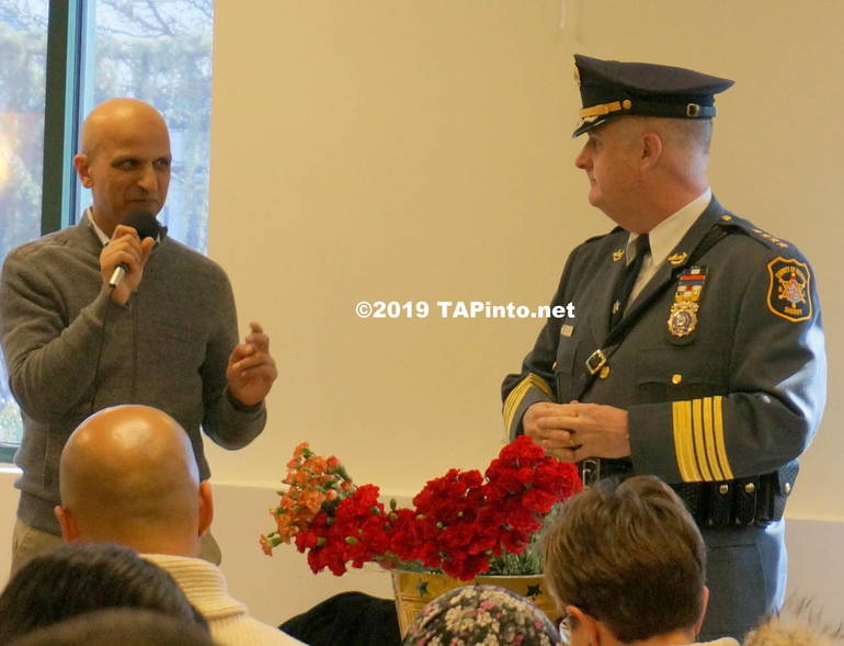 a Gul Khan of Jam-E-Masjid and Morris County Sheriff James Gannon ©2019 TAPinto.net Melissa Benno.JPG