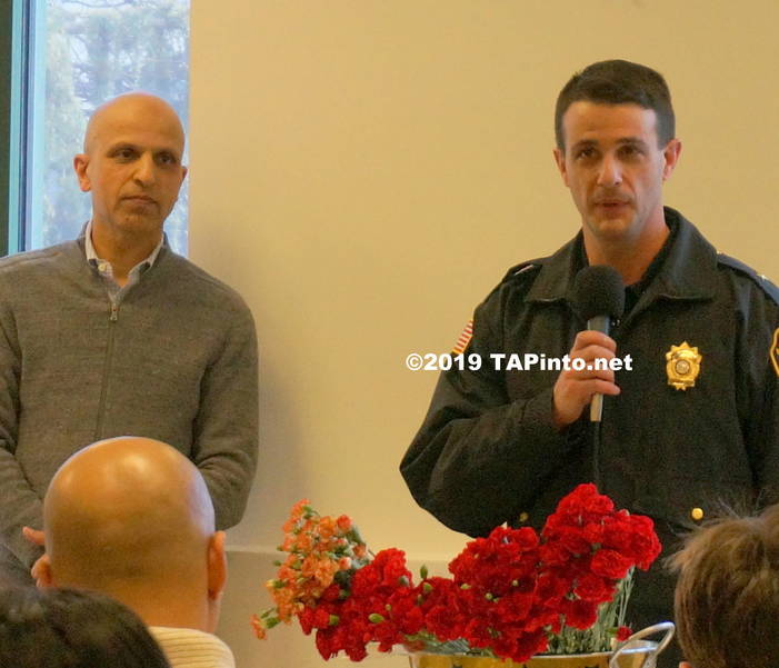 a Gul Khan of Jam-E-Masjid with Police Chief Andrew Caggiano ©2019 TAPinto.net Melissa Benno.JPG