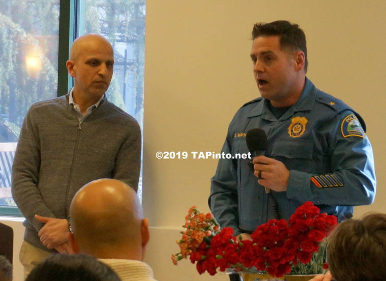 a Gul Khan of Jam-E-Masjid with Boonton Police Chief David Mayhood ©2019 TAPinto.net Melissa Benno.JPG