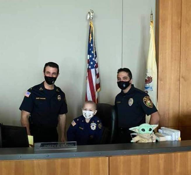 """Five-Year-Old is NJ Town's """"Police Chief"""" for a Day"""