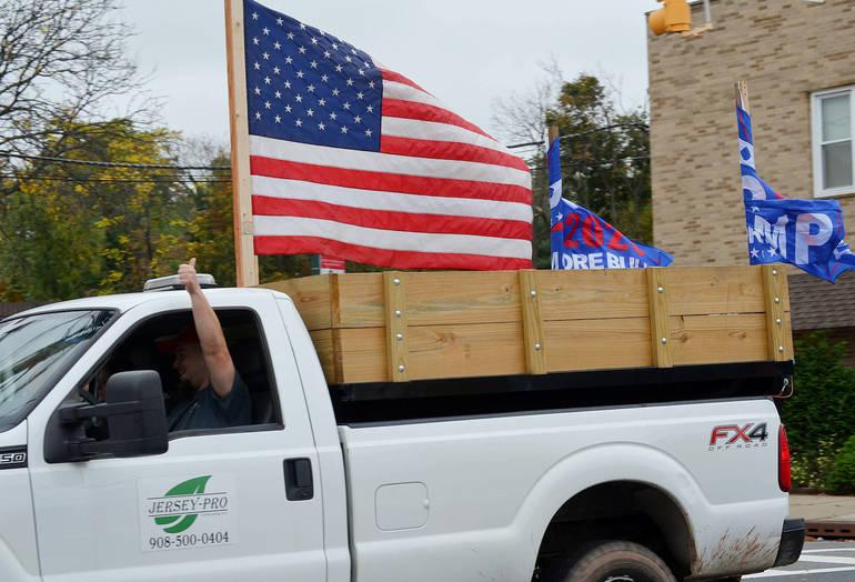 Trump Truck Parade rolls through Scotch Plains and Fanwood.