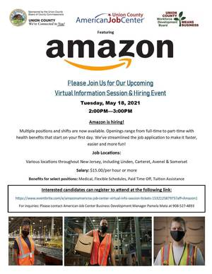 Union County to Host Virtual Hiring Event with Amazon
